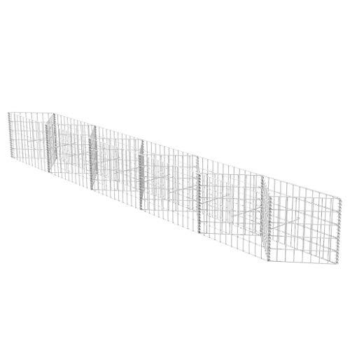 fzyhfa gabbione en réseau/jardinière/potager surélevé acier 330 x 30 x 50 cm Design Beau, robuste et fiable également résistant Clôture Jardin barrières extérieures