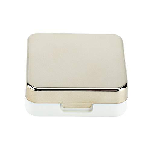Kontaktlinsenbehälter, Reflektierende Abdeckung Kontaktlinsen-Etui Set Cute Lovely Travel Kit Box(Golden)
