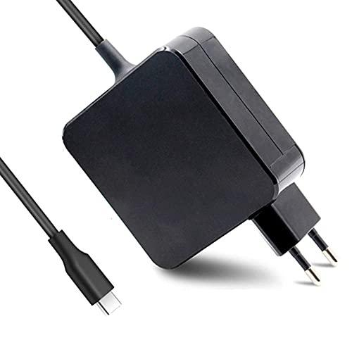 DTK 65W USB C Cargador para Portátil y Tableta, Type C Fuente de Alimentación Adaptador para Lenovo, HP, DELL, ASUS, Acer, Samsung, Google Chromebook, Huawei Matebook y más