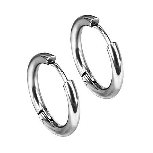 Pendientes de aro de acero para hombre y mujer.