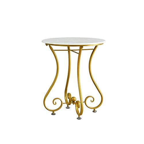 SZQ-Table Basse Petite table basse ronde en métal Mini-table simple blanche Petite table de salon Table de sofa (Size : 47 * 47 * 60CM)