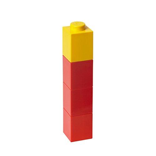 Room Copenhagen Lego - Botella Cuadrada con diseño de ladrillo, Color Rojo 40410001