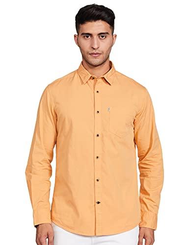 Amazon Brand – Inkast Denim Co. Men's Slim Fit Casual Shirt, 2XL, Angel Blue