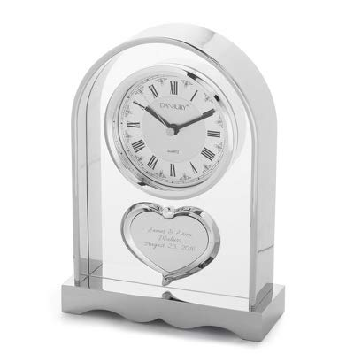 Things Remembered Personalized Couples Heart Mantel Clock with Engraving Included