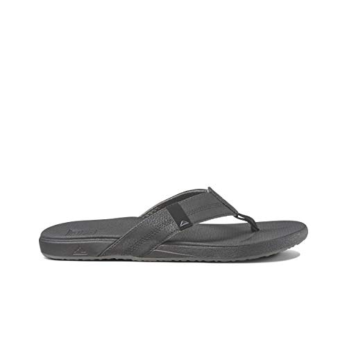 Reef Men's Sandals Cushion Bounce Phantom | Flip Flops for Men with Cushion Bounce Footbed | Black | Size 11
