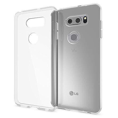 NALIA Handyhülle kompatibel mit LG V30, Ultra-Slim TPU Silikon Case Cover Crystal Clear Schutzhülle Dünn Durchsichtig, Etui Hülle Handy-Tasche Backcover Transparent, Smart-Phone Schutz Bumper