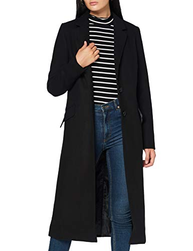 Amazon-Marke: find. Damen Langer Mantel, Schwarz (Black), 40, Label: L