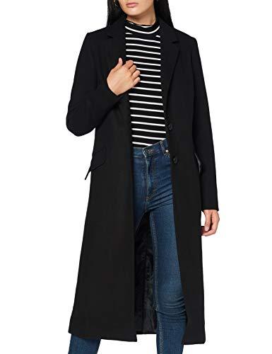 Amazon-Marke: find. Damen Langer Mantel, Schwarz (Black), 42, Label: XL