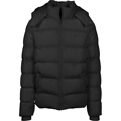 Urban Classics Jungen Boys Hooded Puffer Jacket Jacke, Black, 158/164