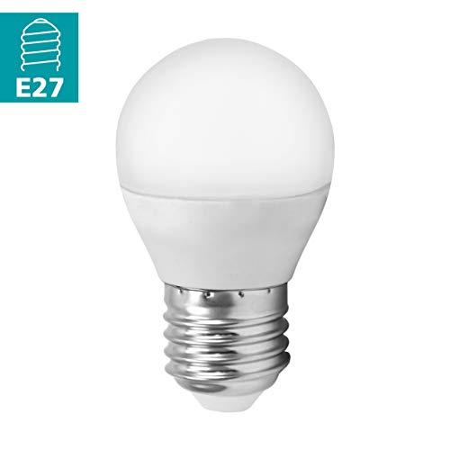 EGLO LED E27 Lampe, Glühbirne, LED Lampe, 4 Watt (entspricht 30 Watt), 320 Lumen, E27 LED warmweiß, 3000 Kelvin, LED Leuchtmittel, Glühlampe G45, Ø 4,5 cm