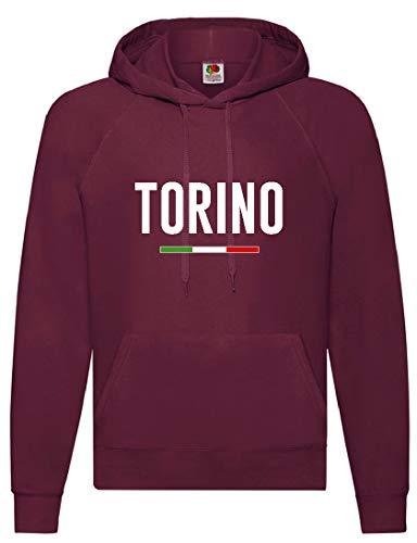 Felpa Granata Torino Tifosi Calcio Taglia M (per S M L XL XXL - Bambino invia Messaggio con n. Ordine)