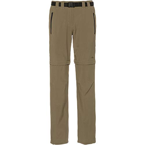 CMP Pantalon zippé pour Femme Kaki 52