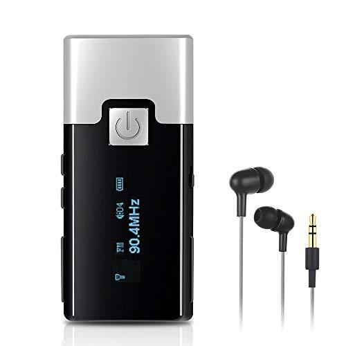 ENKLOV Tragbares DAB Radio Taschenradio mit Kopfhörer, Digitales DAB DAB+ UKW FM Radio, Ansteckbares Design Clip-on Super leicht, 20 Sender speichern, für Sport, Jogging, Laufen, Unterwegs