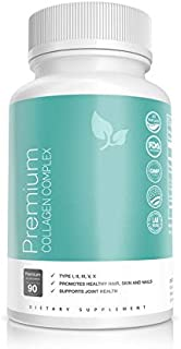 Multi Protein Collagen Peptides Pills (1500mg) - Pasture Raised + Grass Fed, Anti Aging, Smooth Skin, Healthy Nails, Strong Hair & Every Day Joint Support (Types 1,2,3,5,10) – Men & Women