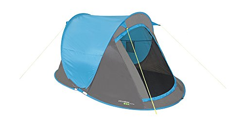 Yellowstone Waterproof Fast Pitch Unisex Outdoor Pop-Up Tent, Multicolour (Blue), 2 Persons
