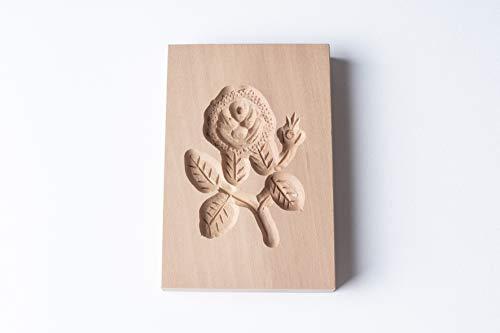 Springerle-Model Rose, Holz Form Birnbaum, Backform für Anisgebäck, 9,5 x 6 cm