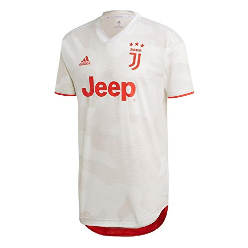 adidas Juventus Segunda Equipación Authentic 2019-2020, Camiseta, Core White-Raw White