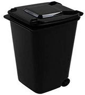 Yiherone 2 PCS Miniskirt Desk Goodish Desktop Trash Can Stationery Organizer Pen Pot Holders(Black) New (Color : Black)