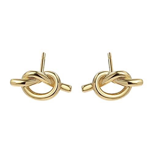 1 piercing de oreja para niñas con forma de nudo y personalidad minimalista