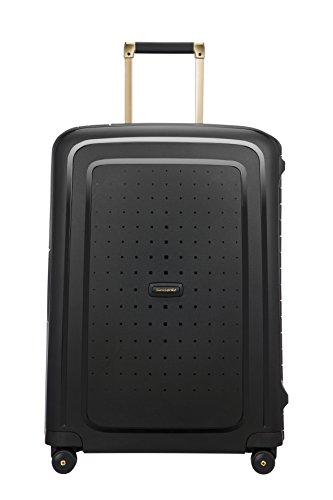 SAMSONITE S'Cure DLX Spinner, 4.1 KG Koffer, 69 cm, 79 L, Black/Gold Deluscious