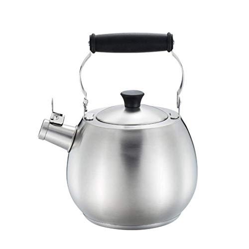 Básculas Digitales, tés, Botella de Gas obligatoria, hervidor con Silbato para Estufa con Mango de Madera, 0,8 litros