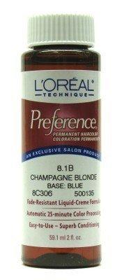 L'Oréal Préférence Couleur # 8.1b Champagne Blonde