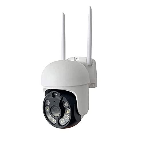 Cámara IP WiFi Smart Life, Cámara De Video De Seguridad PTZ Con Seguimiento Automático Impermeable IP66 Para Exteriores, Vigilancia CCTV De Visión Nocturna De 3MP Funciona Con(Size:Camera + 128g Card)