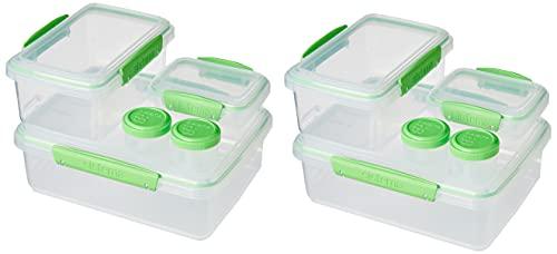 מארז 10 קופסאות סיסטמה - 6 מלבניות בגדלים שונים + 4 מיני עגולות