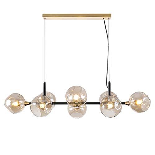 Creatieve postmoderne hanglamp minimalistisch design E14 hanglamp persoonlijkheid helder glas prachtige binnenlamp warm licht
