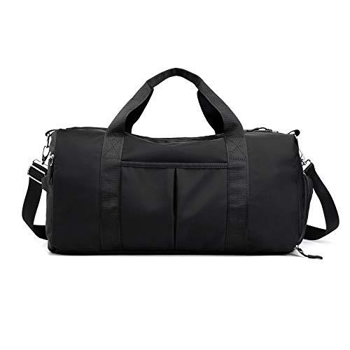 Sports bag male travel bag female tote messenger bag travel duffel bag wet and dry separation shoulder gym bag black