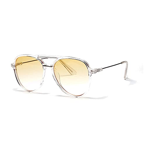Siyse Gafas de Sol Lentes de Colores Unisex ConduccióN Aviator -C
