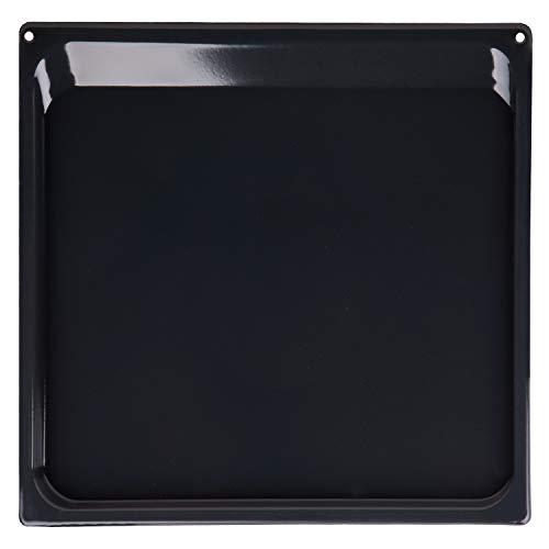 Backblech Fettpfanne Blech emailliert 406x360x15mm wie Original Gorenje 334774 AC037 für Backofen schwarz perfekt für Kuchen Plätzchen und sämtliche Gerichte - verteilt die Hitze gleichmäßig