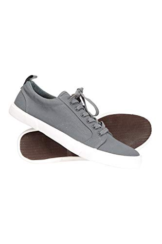 Mountain Warehouse Vulcan Mens Shoes - Cotton Canvas Casual Shoes Dark Grey 7 M US Men
