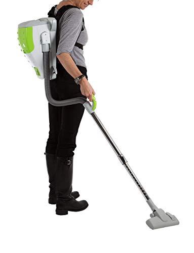 AspiroBag - Aspirapolvere portatile dorsale, compatto, con sacchetto, classe energetica A+, con 12sacchetti e accessori