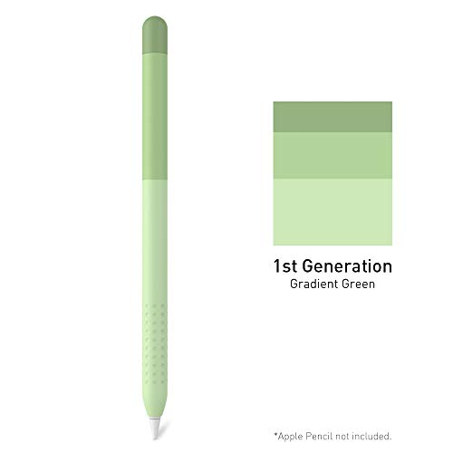 Delidigi Gradient Color Case Sleeve Silicone Cover Holder Accessories Compatible with Apple Pencil 1st Generation(Gradient Green)