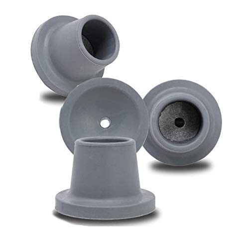 Replacement Feet for Shower Chair Bath Seat, shower stools and transfer bench, non-skid Shower Bench and Tub Transfer Benches Rubber Suction Cup Feet, Metal Insert Reinforced (1-1/8