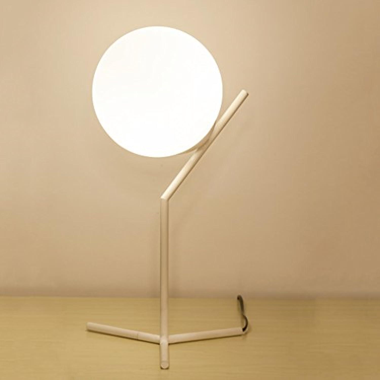 JIAHONG Moderne kreative Wohnzimmer Glas sphrische Lampe Nordic Schlafzimmer Nachttisch Beleuchtung LED-Lampen (Farbe   Warm light)