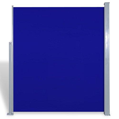 Uittrekbaar wind-/zonnescherm 180x300 cm blauw