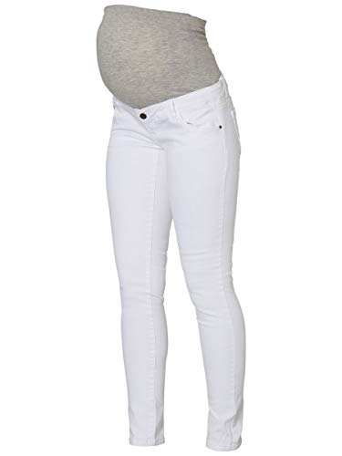 MAMALICIOUS Mama Licious Female Umstandsjeans Slim Fit 2932Antique White