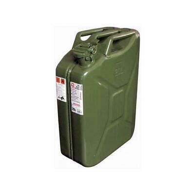 VERDELOOK Tanica in Metallo Verde per Carburante, capienza 20 Litri, Omologata Un