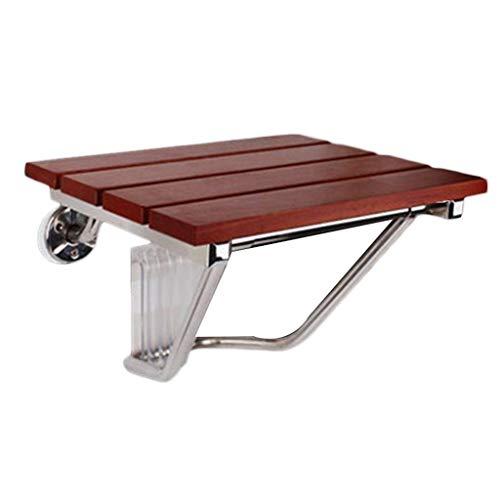 Saugglocken & Halter Handlauf Durable Sitzbadewanne Klapphocker Badezimmer Schrank rutschfeste Wand Schuh-Schuh Tisch Nacht Ältere Behinderte (Color : Brown, Size : 30 * 25.5 * 29cm)