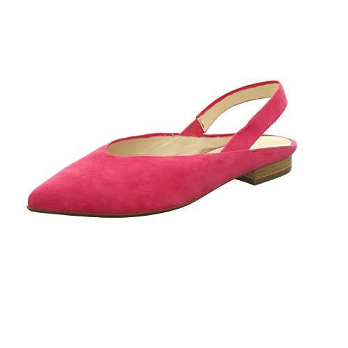 Peter Kaiser Takara 19349 Damen SlingBallerinas,Slingback Ballerina,Flats,Sommerschuh,Knöchelriemchen,Ziegenleder,Berry Suede,39.5 EU / 6 UK