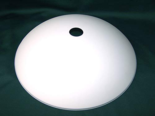 Lampenschirm, Ersatzlampenschirm aus Glas Durchmesser 40 cm geeignet für Deckenhängelampen, Stehfluter, Pendelleuchten mit E-27 Fassungen, weiss satiniert