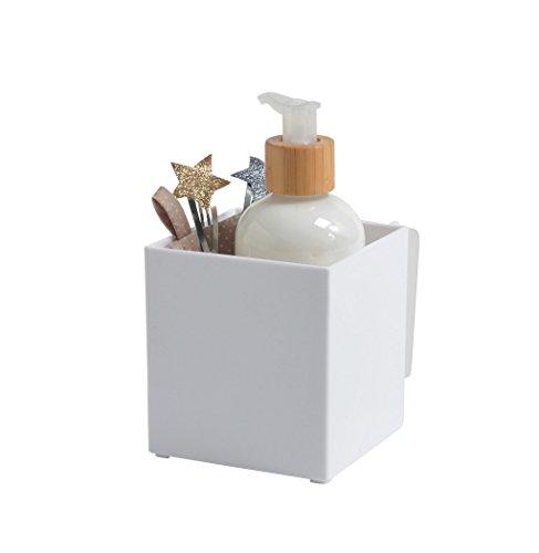 Compactor Rangement Boîte de rangement auto-adhésive, Blanc, S, 9,5 x 10,2 x H 10 cm, RAN7160