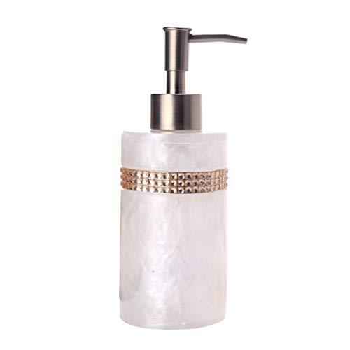 MKVRS Dispensadores de jabón de resina redonda nórdica, dispensador de jabón líquido...