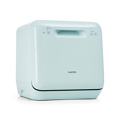 Klarstein Aquatica Mini Dishwasher - A, 125 kWh/Year, 2 Place Settings, Freestanding, Installation-Free, 360 ° Wash, 3 Programmes, Touch Control, Water Consumption: 5 litres - Green