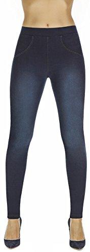 Firstclass Trendstore Shapeleggings in Jeans-Optik Gr. S-XXL, formend modellierend schlankmachend (Maddie dunkelblau XXL)