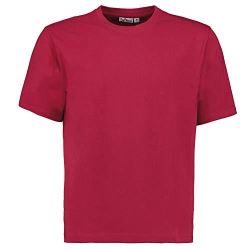Tony Brown Herren T-Shirt Rundhals | Rot | Shirt | Unifarben | Basic Shirt | 100{b81e9a0d45e626678de9804fb1dc2997403266b7af102b70b049d79e4a2ca400} Baumwolle | Kurzarm (XXL, 1er Set)