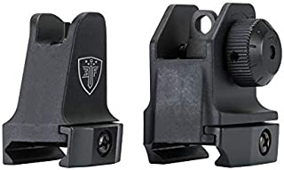 Elite Force Field Sights Front Sight Post and Rear Aperture for Pellet Guns, BB Guns, and Airsoft Guns