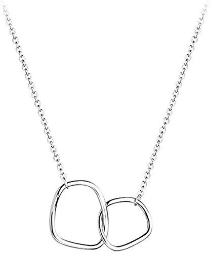 Yiffshunl Collar de Moda Collar de círculo Irregular Collar de Mujer
